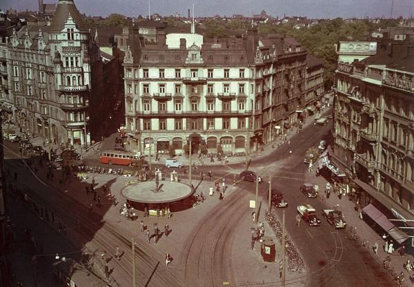 Sztokholm jeszcze przed zmianą ruchu w latach 30.