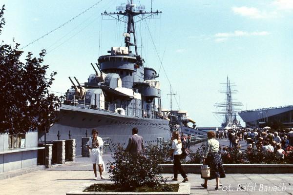 ORP Błyskawica - Gdynia, rok 1983 (fot. Rafał Banach)