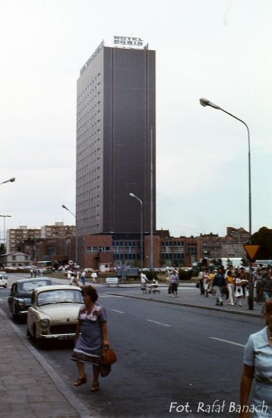 Hotel Heweliusz w Gdańsku w 1983 roku (fot. Rafał Banach)