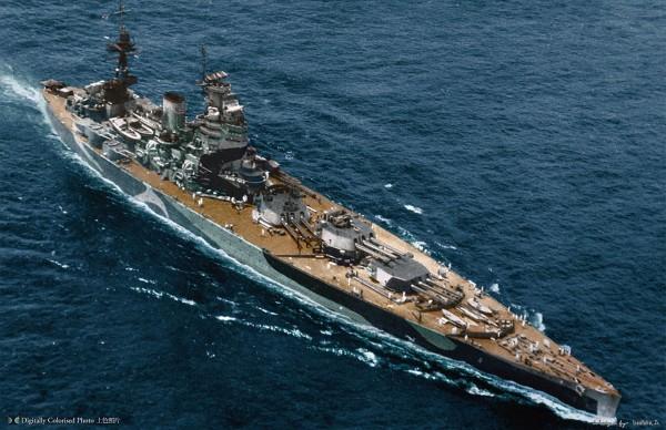 Brytyjski pancernik HMS Nelson zbudowany zgodnie z postanowieniami Traktatu waszyngtońskiego w 1927 roku. Okręt charakteryzował się bardzo nietypowym rozmieszczeniem artylerii