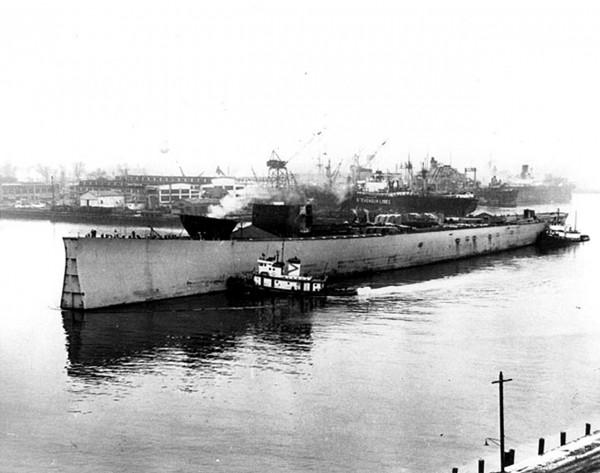 Nieukończony kadłub USS Kentucky