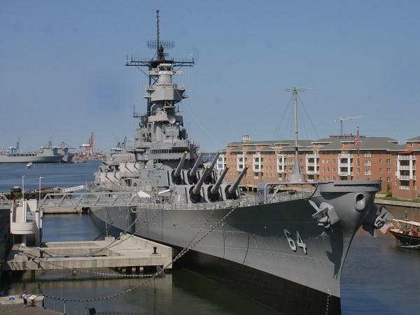 USS Wisconsin w Norfolk już jako muzeum