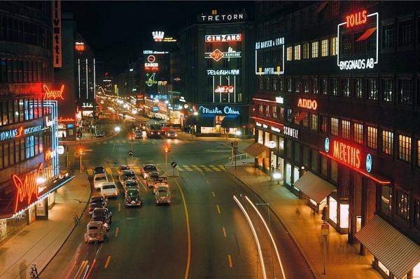 Sztokholm w 1964 roku (fot. Stockholm Transport Museum)