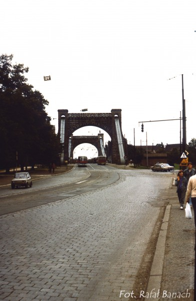 Most Grunwaldzki we Wrocławiu - 1987 rok (fot. Rafał Banach)