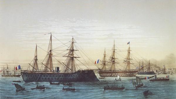 Bardzo ciekawy obraz przedstawiający Solferino, Magenta i prawdopodobnie Napoleona w Breście - szkoda, że nie ma żadnego zdjęcia z tego okresu