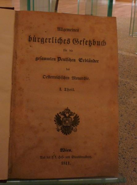 Austriacka powszechna ustawa cywilna (Allgemeines Burgeliches Gesetzbuch)
