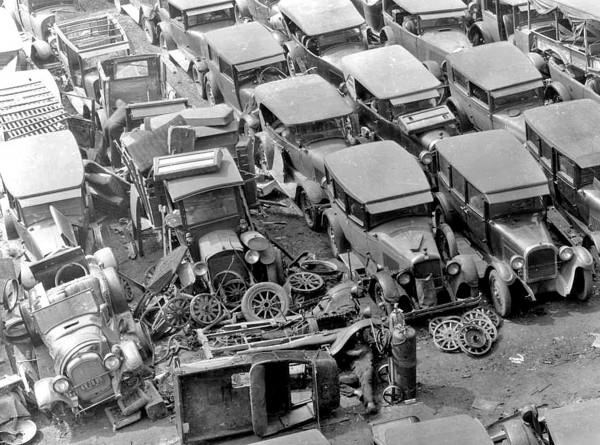 Wyn's Auto Supply w Los Angeles w 1932 roku (fot. USC Libraries)