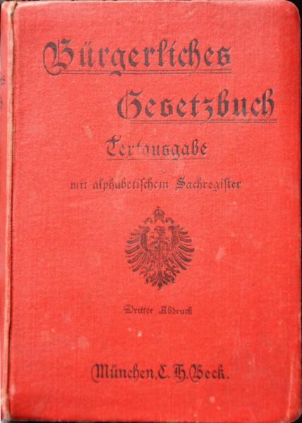 Niemiecki kodeks cywilny (Burgeliches Gesetzbuch)