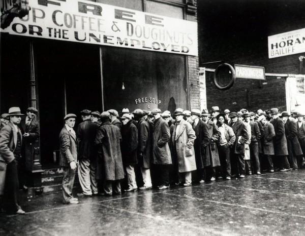 Bezrobocie w USA było wyjątkowo wysokie jak na tamte czasy