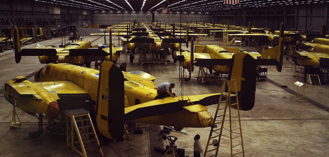 Hala produkcyjna B-25 Mitchell - Kansas City 1942