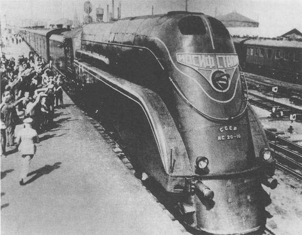 Parowóz IS20-16 - jeden z pierwszych radzieckich streamlinerów