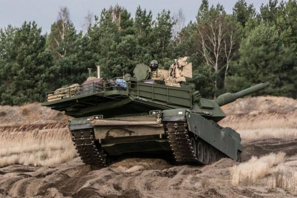 Amerykański M1A2 Abrams (fot. chor. Rafał Mniedło)