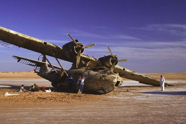 Wrak Cataliny N5593V w Arabii Saudyjskiej (fot. nieznany)