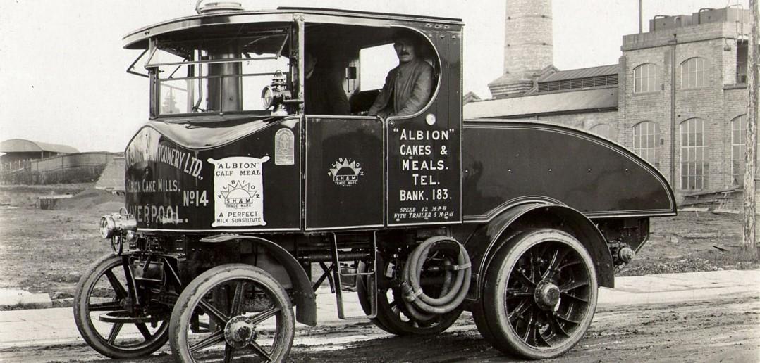 Jedna z ciężarówek Sentinel z 1927 roku