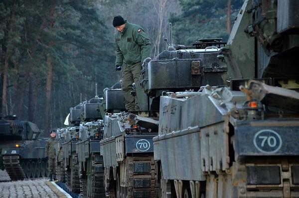 Ostatnia partia czołgów Leopard 2AA5 dostarczonych do Polski (fot. Rafał Nowak)