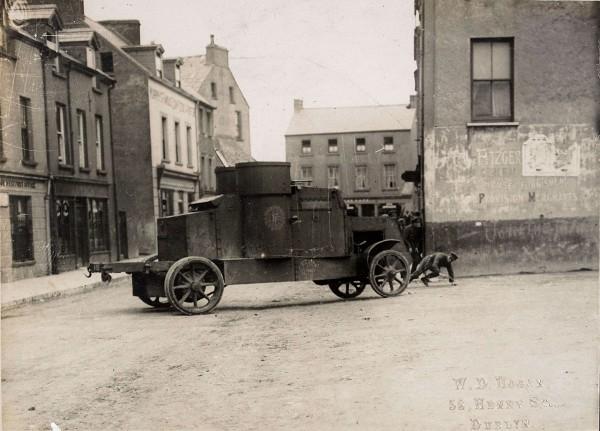Jeden z wozów pancernych Peerles wykorzystywanych w trakcie wojny domowej w Irlandii