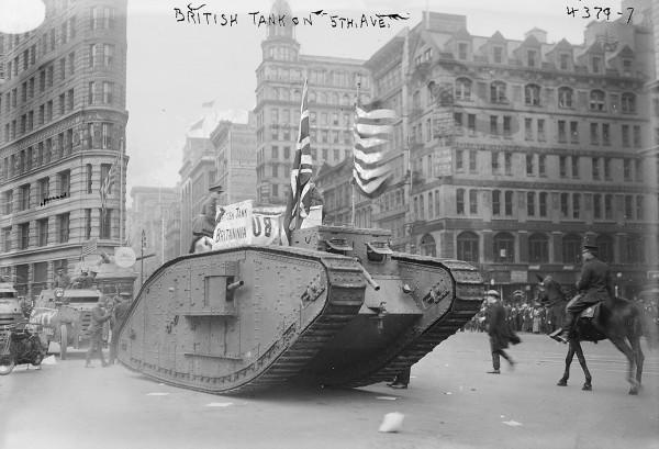 Britannia na 5th Avenue w Nowym Jorku (fot. Bain News Service)