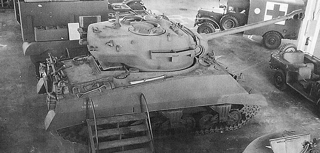 M4A3 Sherman z wieżą czołgu T26E3 z armatą kalibru 90 mm