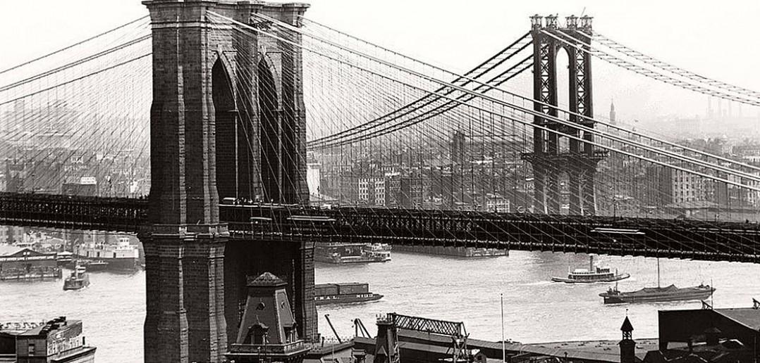 Brooklyn Bridge w 1908 roku - zdjęcie