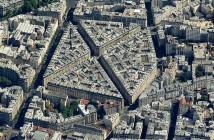 Cytadela Haussmanna - kompleks kamienic na skrzyżowaniu ulic Rue Simart i Rue Eugene Sue (fot. nieznany)