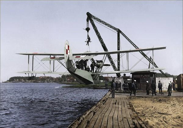 Wodnosamolot Latham 43HB3 w bazie w Pucku - lipiec 1928 (fot. Mateusz Prociak)