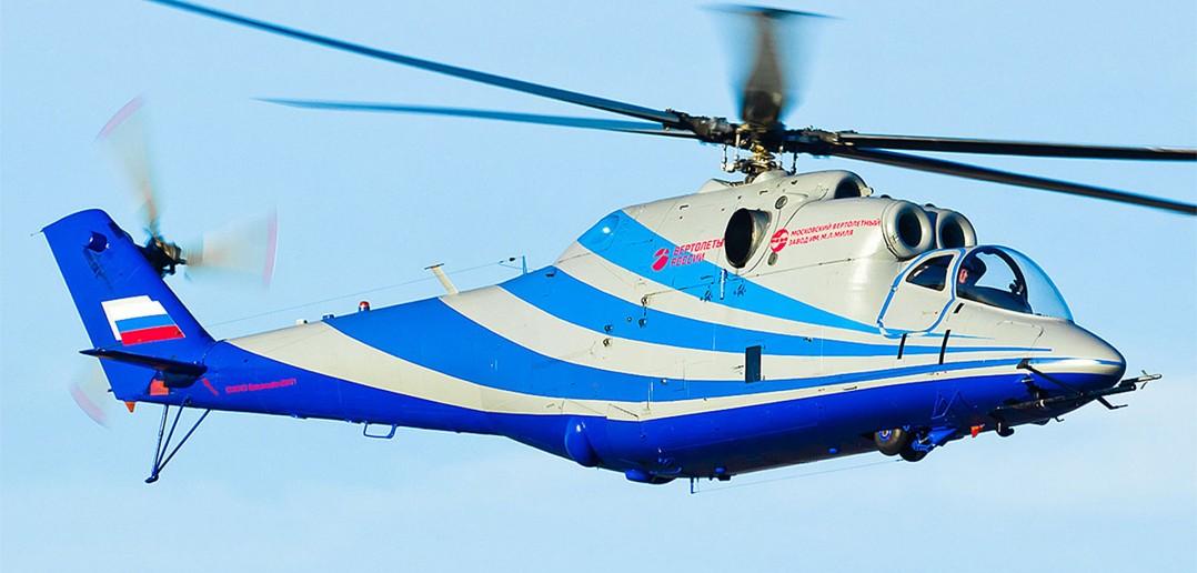 Mi-24 PSV w trakcie pierwszego lotu