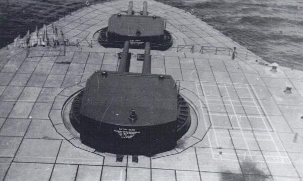 Widok na wieże działowe Fort Drum