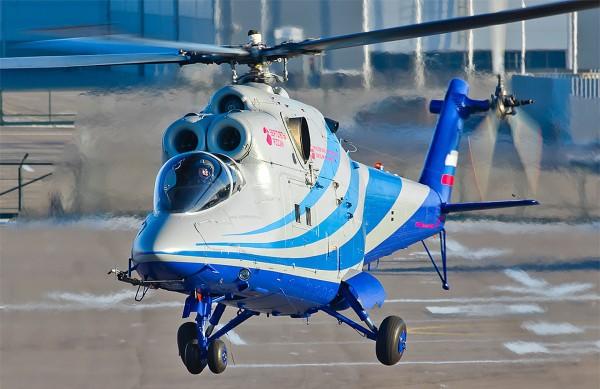 Mi-24 LL-PSW w trakcie pierwszego lotu