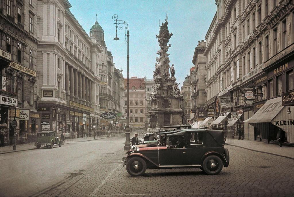 Plac Graben w Wiedniu w 1937 roku (fot. Hans Hildenbrand)