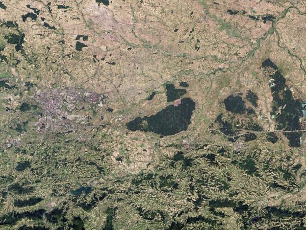 Niepołomice - 8 września 2013 - satelita Landsat/Robert Simmon/NASA