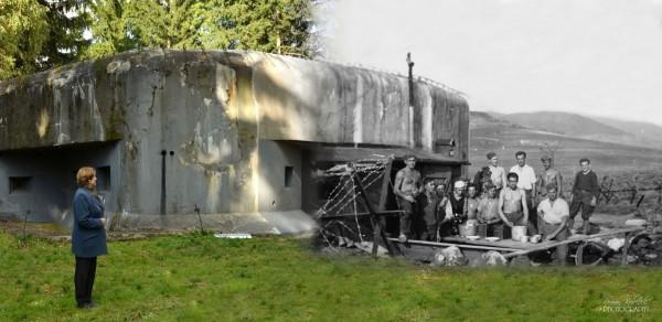 Fort K-S 5 U potoka - obecnie bunkier został odrestaurowany (fot. Roman Kubeček)