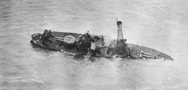 Tonący pancernik USS Alabama