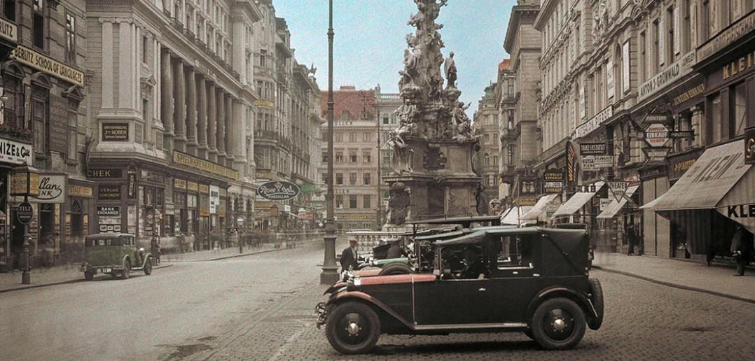 Plac Graben w Wiedniu w 1937 roku - zdjęcie