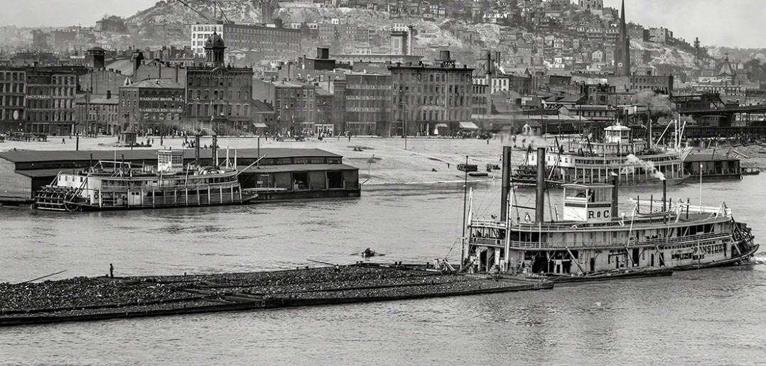 Cincinnati i rzeka Ohio - 1907 - zdjęcie