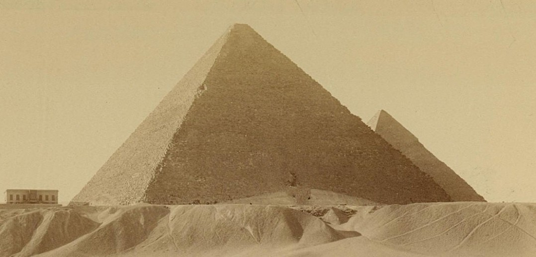 Piramidy w Gizie - 1860-1880 - zdjęcie
