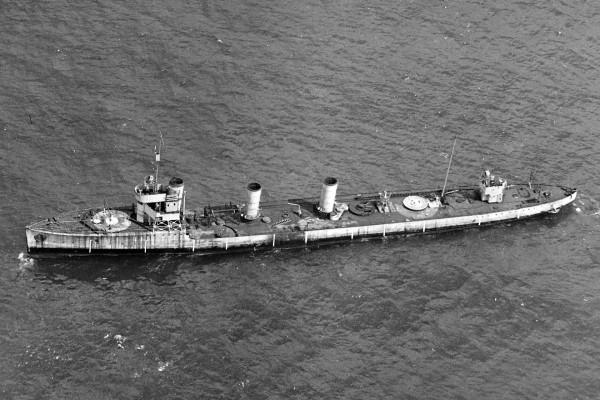Stary ex-niemiecki niszczyciel G-102 zatopiony w trakcie prób