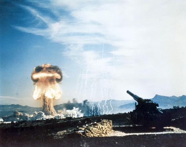 M65 Atomic Annie po swoim pierwszym i ostatnim strzale