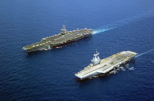 Charles de Gaulle (R91) i USS Enterprise