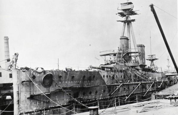HMS Dreadnought w czasie budowy