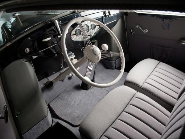Wnętrze samochodu 1932 Bergholt Streamline