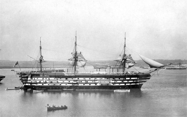 HMS Implacable w połowie XIX wieku