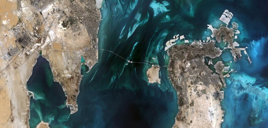 Południowo-zachodnia część Zatoki Perskiej - w szczególności widać Bahrajn i wschodnie wybrzeże Arabii Saudyjskiej (fot. ESA)