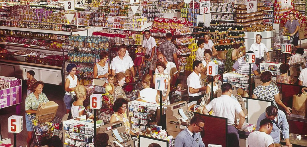 Amerykański supermarket w Rockville w stanie Maryland w 1964 roku