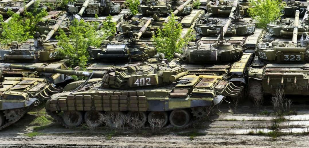 Cmentarzysko czołgów w Charkowie - galeria