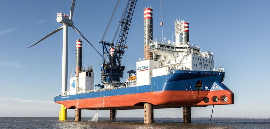 Jackup ship - samo-podnośne statki do budowy turbin wiatrowych