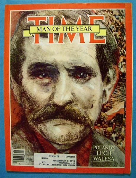 Okładka tygodnika Time z Lechem Wałęsą