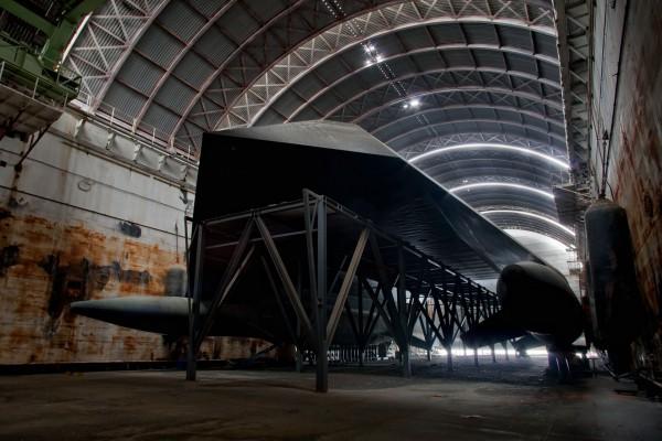 Sea Shadow wewnątrz HMB-1 w 2012 roku (fot. Amy Heiden)