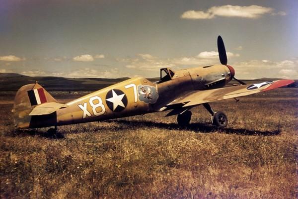 Bf-109 zdobyty w Afryce