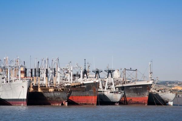 Suisun Bay Reserve Fleet (fot. Amy Heiden)