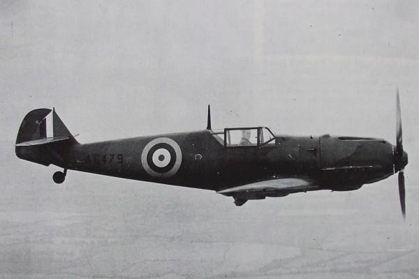 Bf-109 w barwach RAF